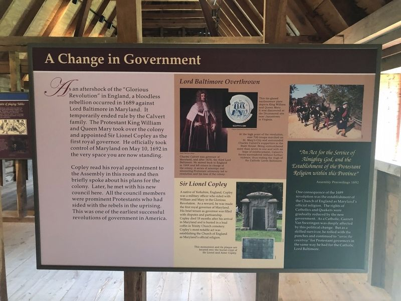 A Change in Government Marker image. Click for full size.