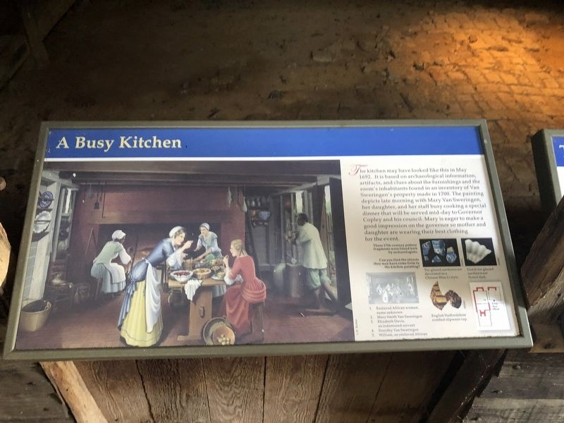 A Busy Kitchen Marker image. Click for full size.