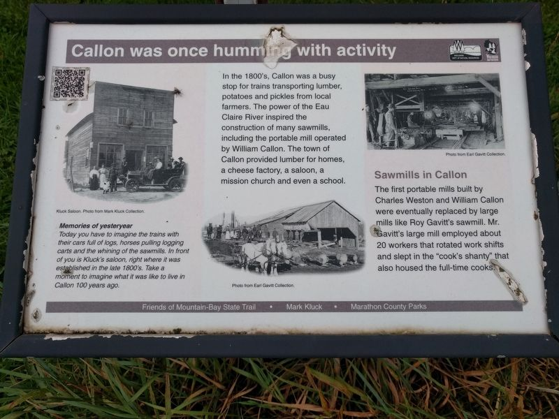 Callon was once humming with activity Marker image. Click for full size.