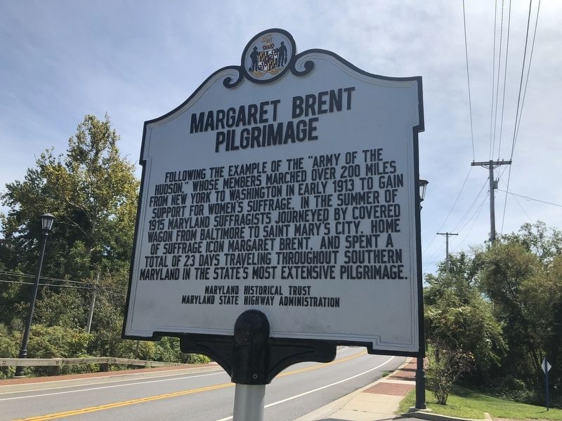 Margaret Brent Pilgrimage Marker image. Click for full size.