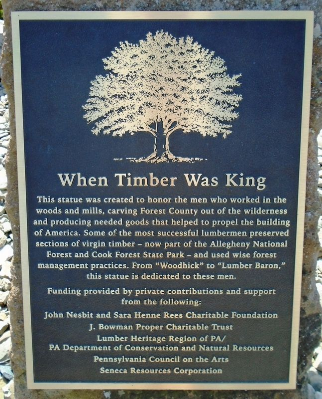 When Timber Was King Marker image. Click for full size.