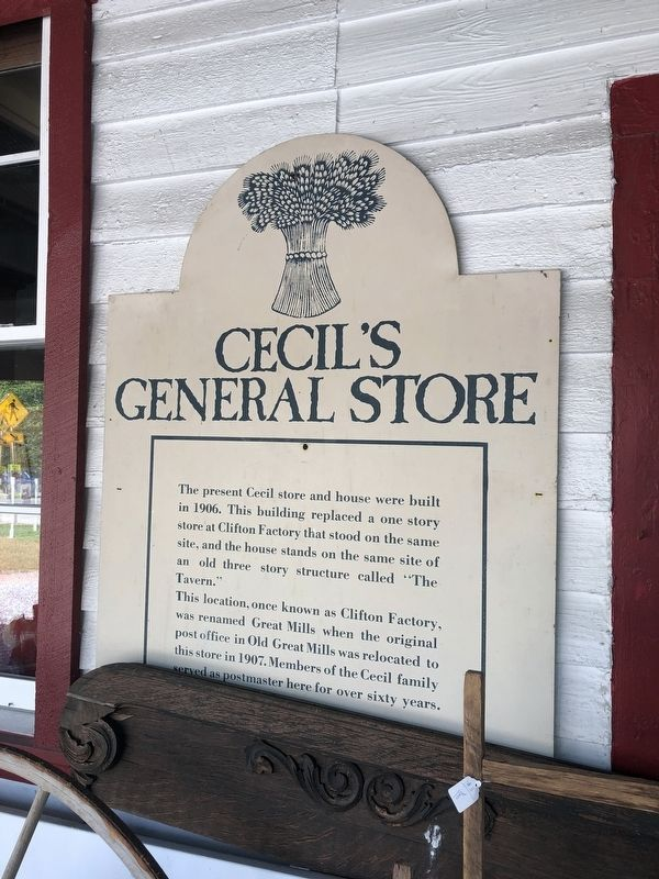Cecil's General Store Marker image. Click for full size.
