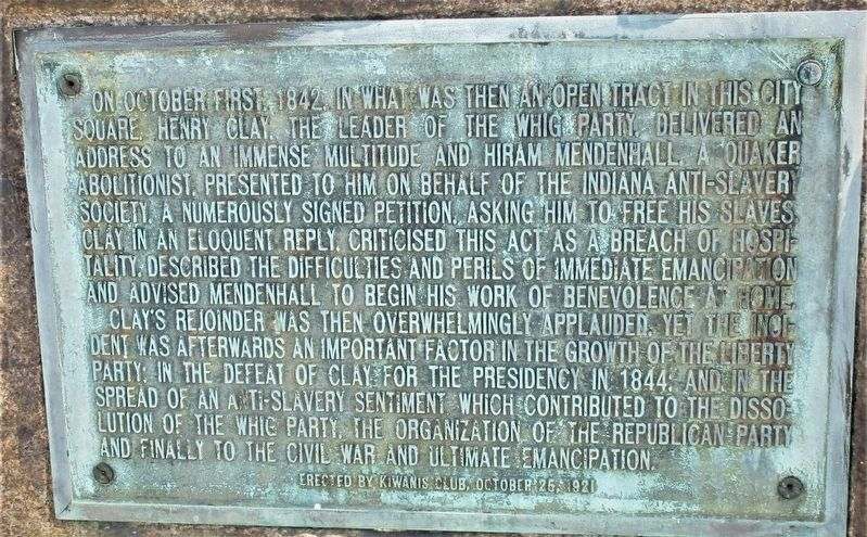 Mendenhall-Clay Debate/Confrontation Marker image. Click for full size.