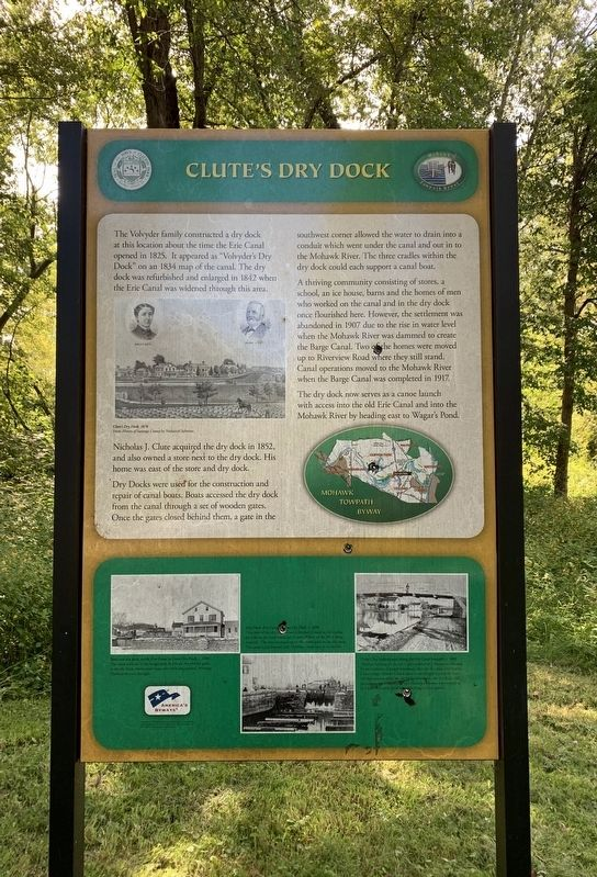 Clute's Dry Dock Marker image. Click for full size.