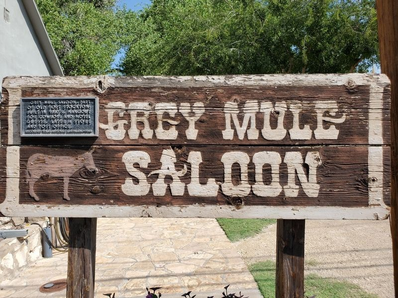 Grey Mule Saloon Marker image. Click for full size.