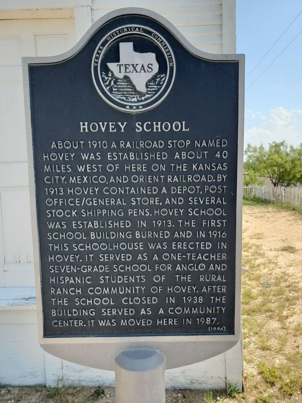 Hovey School Marker image. Click for full size.