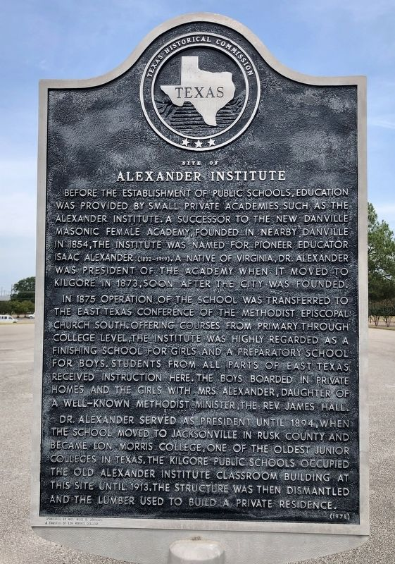 Site of Alexander Institute Marker image. Click for full size.