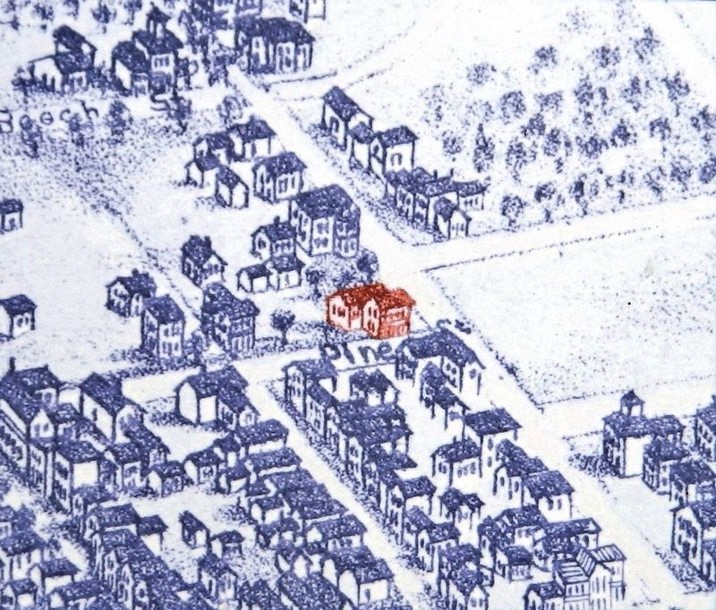 Marker detail: Map image of Loguen home<br>(<i>formerly at this location</i>) image. Click for full size.