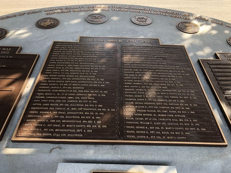 St. Mary's County Veterans Memorial image. Click for full size.