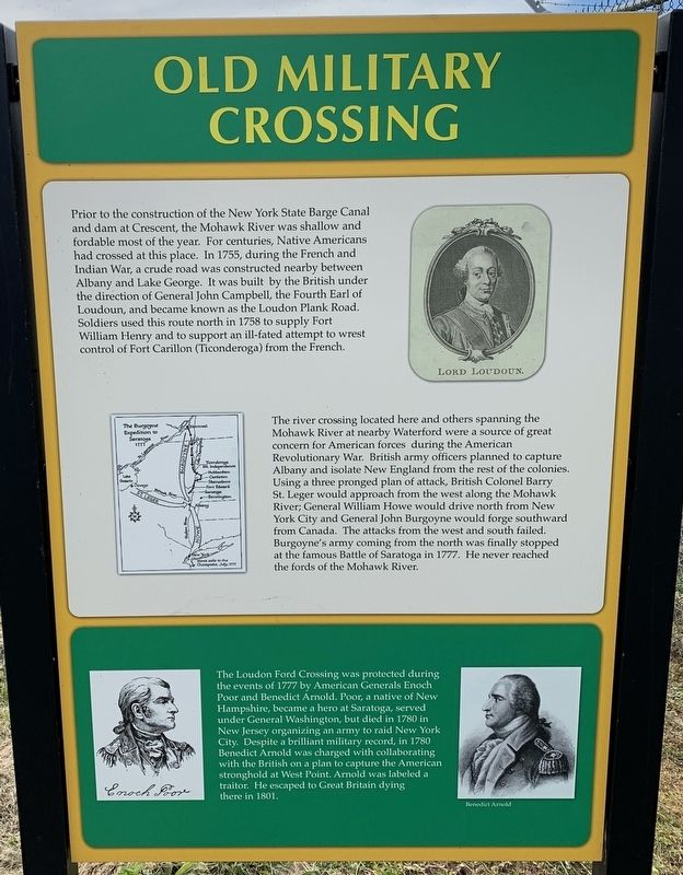 Old Military Crossing Marker image. Click for full size.
