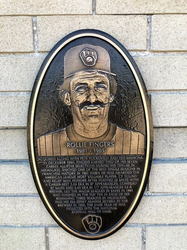 Rollie Fingers Marker image. Click for full size.