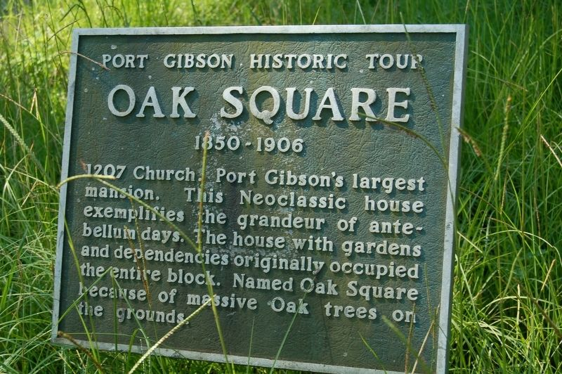 Oak Square Marker image. Click for full size.
