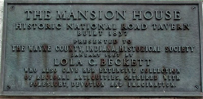 Mansion House Marker image. Click for full size.