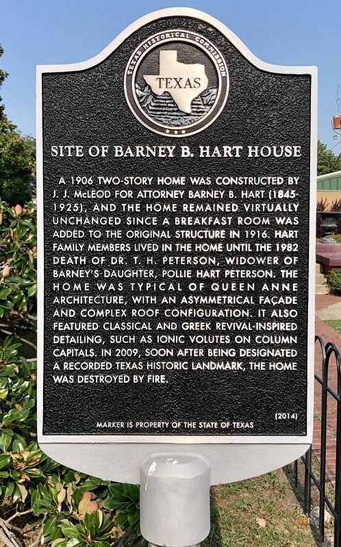 Site of Barney B. Hart House Marker image. Click for full size.