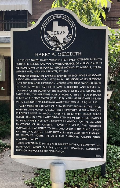 Harry W. Meredith Marker image. Click for full size.