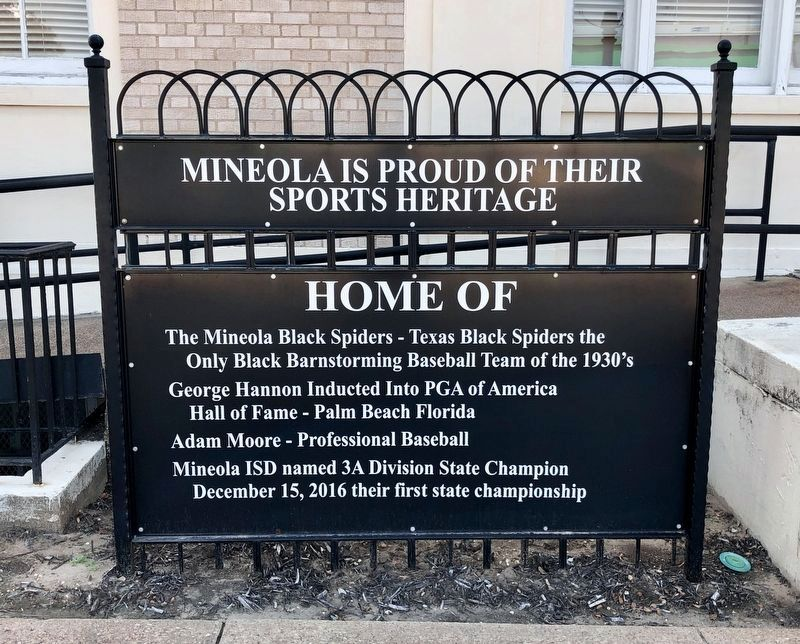 Mineola Sports Heritage image. Click for full size.