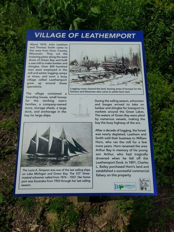 Village of Leathemport Marker image. Click for full size.