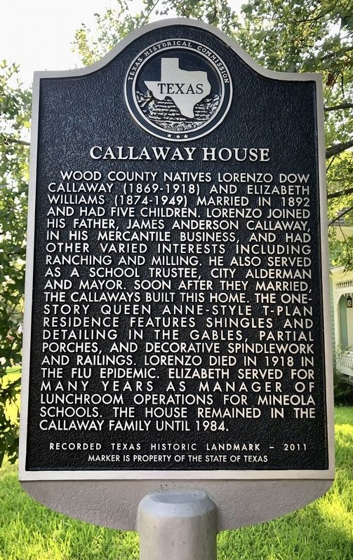 Callaway House Marker image. Click for full size.