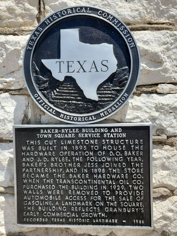 Baker-Rylee Building and Town Square Service Station Marker image. Click for full size.