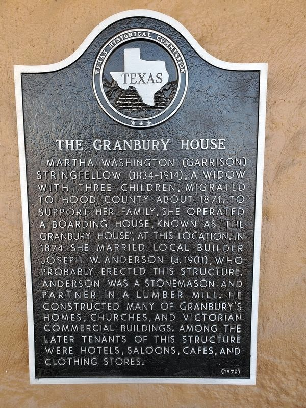 The Granbury House Marker image. Click for full size.