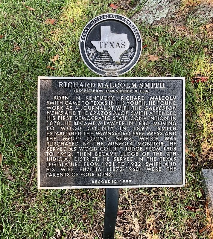 Richard Malcolm Smith Marker image. Click for full size.