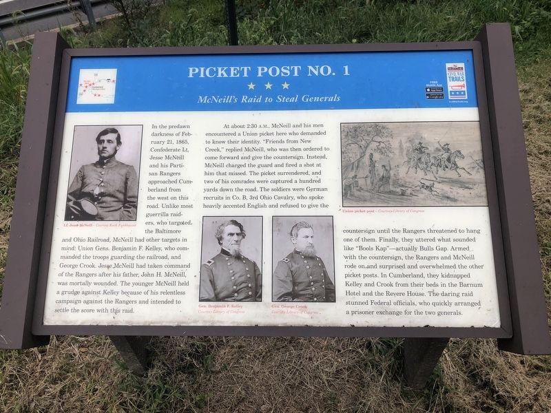 Picket Post No. 1 Marker image. Click for full size.