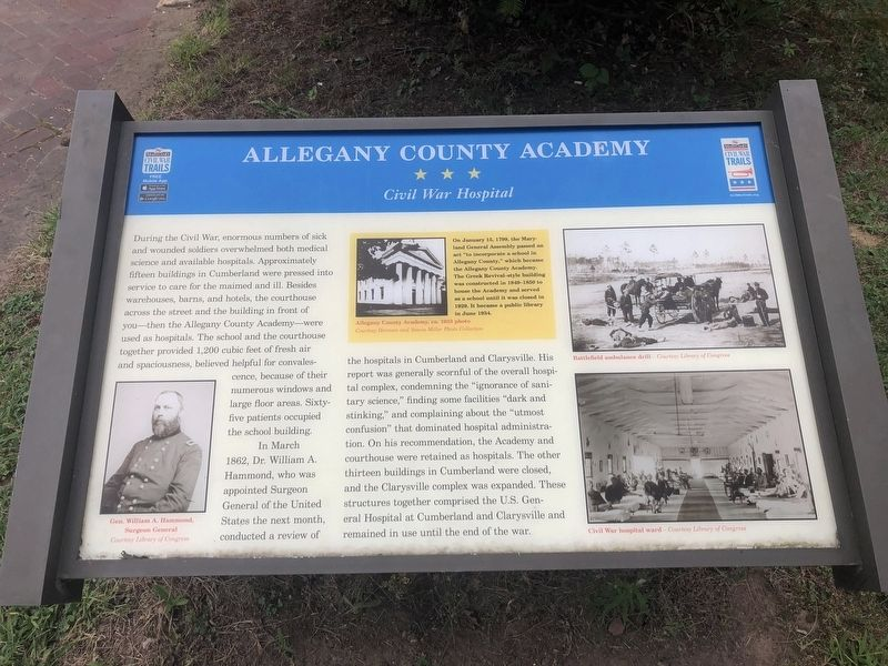 Allegany County Academy Marker image. Click for full size.