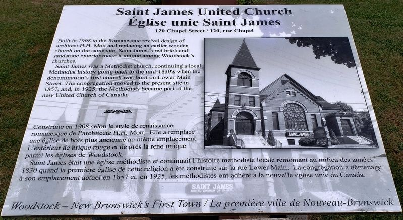 Saint James United Church / Église unie Saint James Marker image. Click for full size.