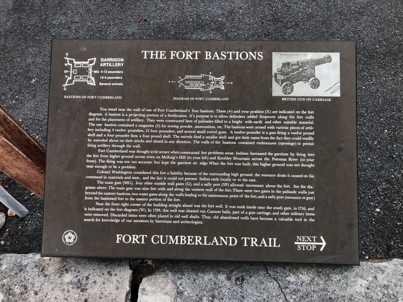 The Fort Bastions Marker image. Click for full size.