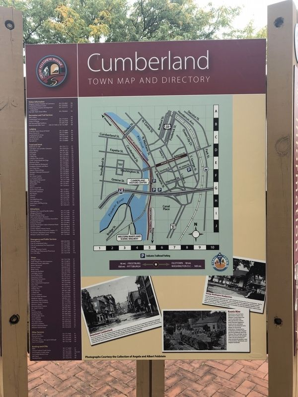 Cumberland, Town Map and Directory side of the marker image. Click for full size.