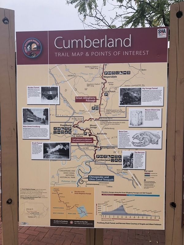 Cumberland, Trail Map & Points of Interest side of the marker image. Click for full size.