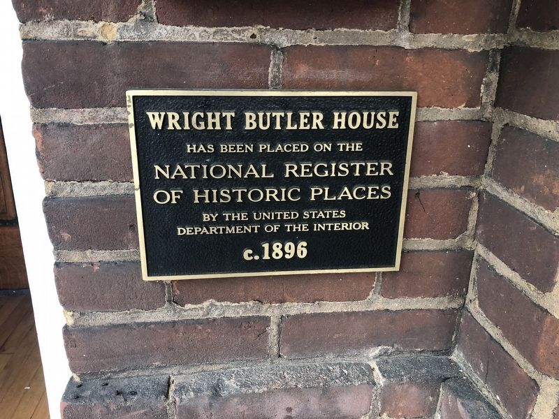Wright Butler House Marker image. Click for full size.
