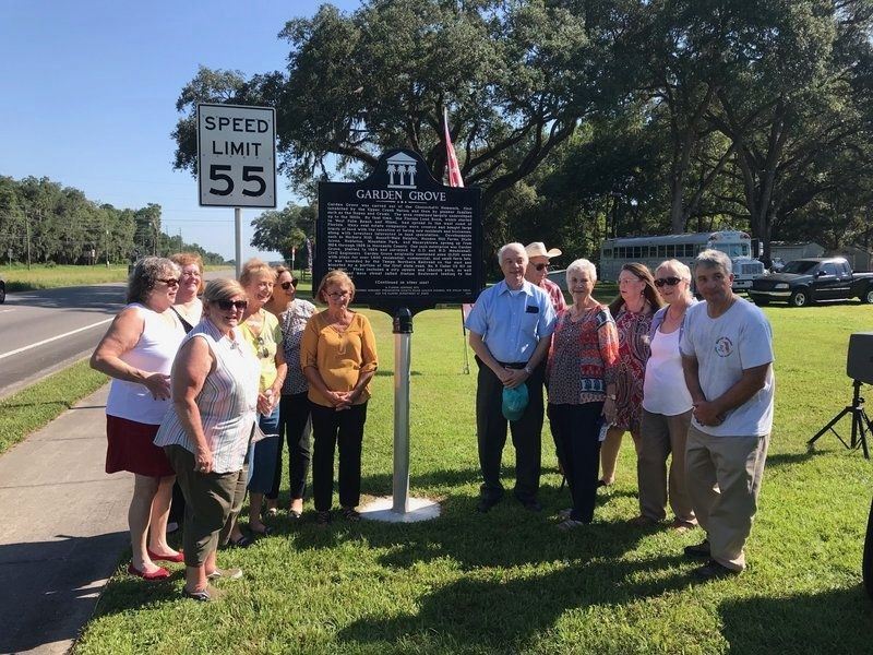 Garden Grove Marker and group at dedication. image. Click for full size.
