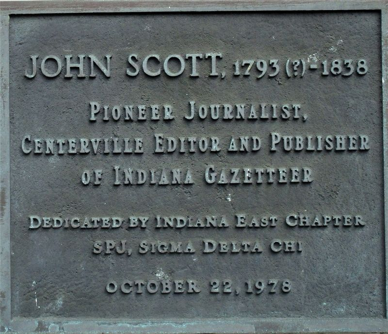 John Scott, 1793 (?)-1838 Marker image. Click for full size.
