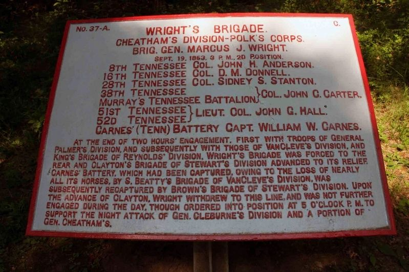Wright's Brigade Marker image. Click for full size.