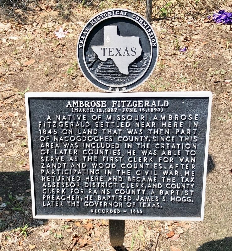 Ambrose Fitzgerald Marker image. Click for full size.