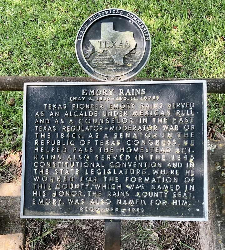 Emory Rains Marker image. Click for full size.