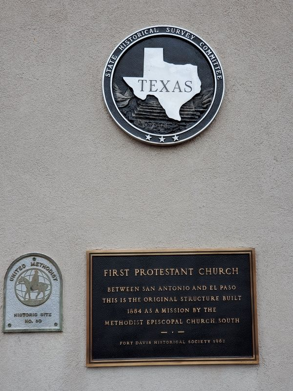 Fort Davis United Methodist Church Marker image. Click for full size.