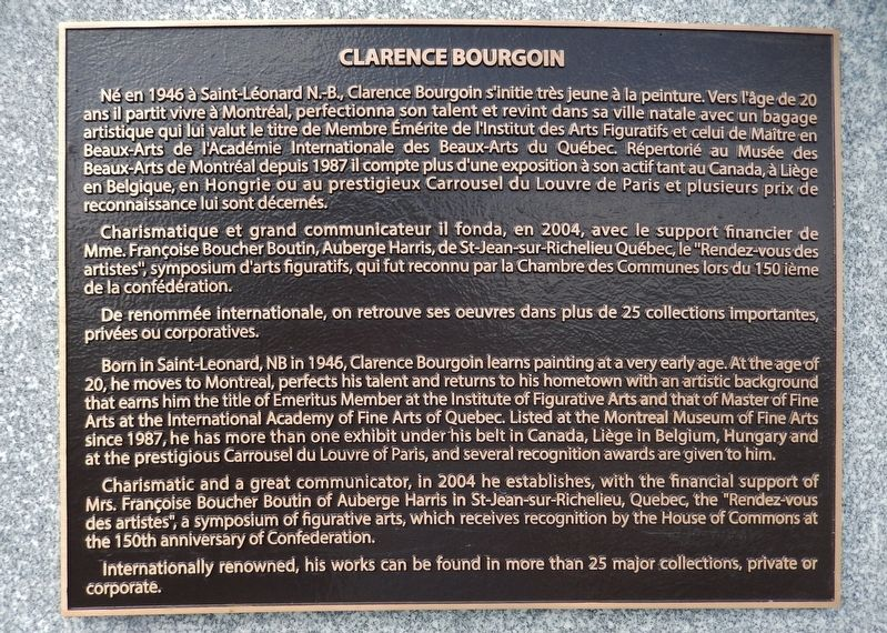 Clarence Bourgoin Marker image. Click for full size.