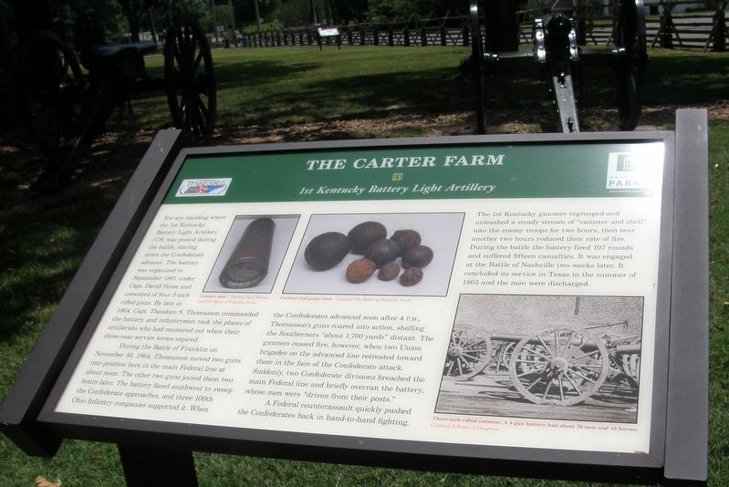 The Carter Farm Marker image. Click for full size.