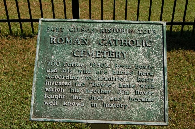 Roman Catholic Cemetery Marker image. Click for full size.