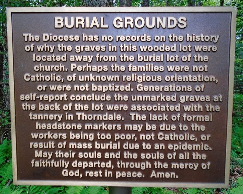 Burial Grounds Marker image. Click for full size.
