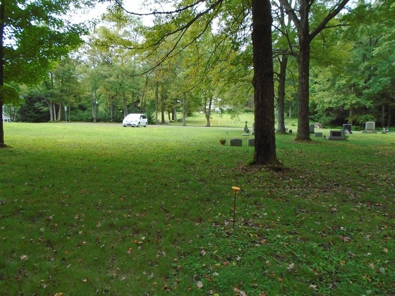 View Toward Park Street From Burial Grounds Marker image. Click for full size.