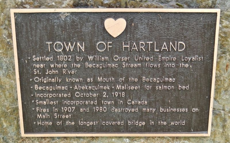 Town of Hartland Marker image. Click for full size.