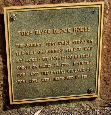 Toms River Block House Marker image. Click for full size.