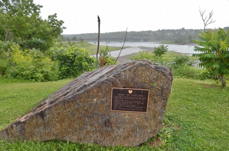 Town of Hartland Marker<br>(<i>wide view looking south across the St. John River</i>) image. Click for full size.