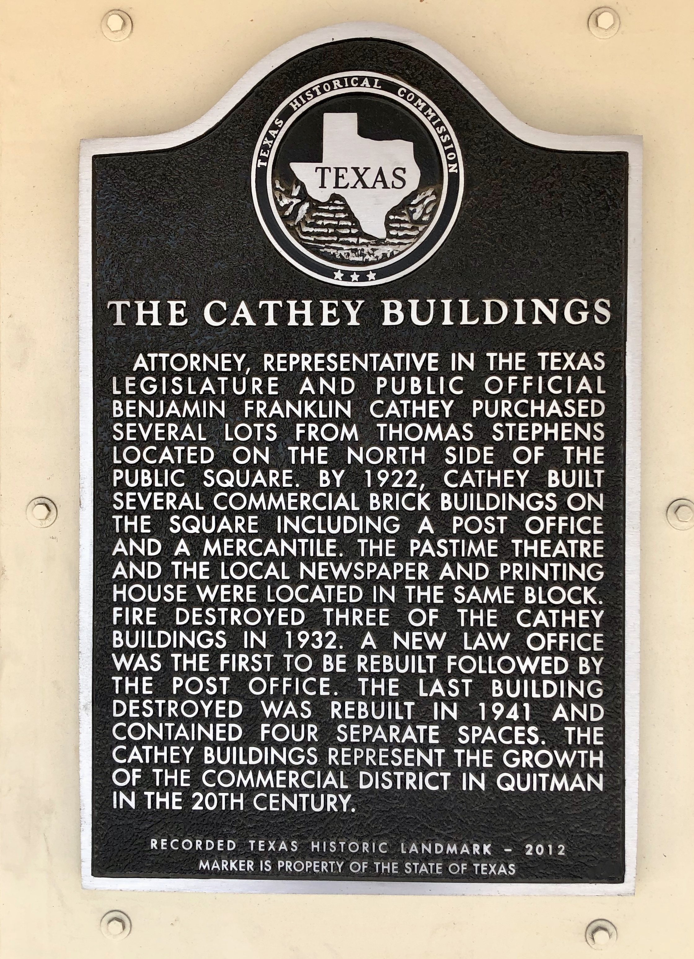 The Cathey Buildings Marker