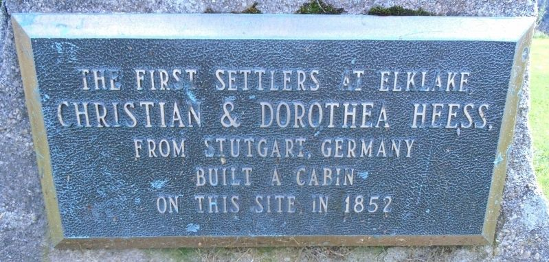 Christian & Dorothea Heess Marker image. Click for full size.