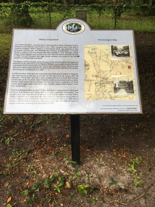 Historic Floral Bluff Marker image. Click for full size.