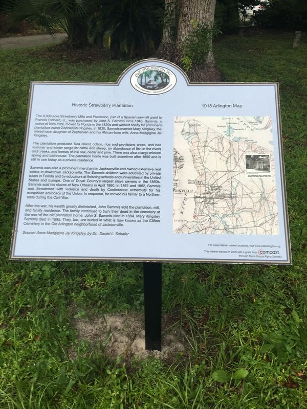 Historic Strawberry Plantation Marker image. Click for full size.